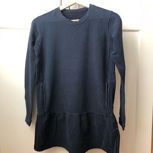 Lululemon Peplum Tunic Sweatshirt 6 Navy